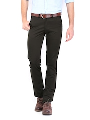 Peter England Men Brown Smart Fit Trousers