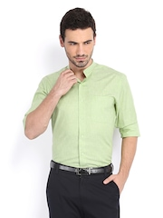 Peter England Men Green Slim Fit Semiformal Shirt