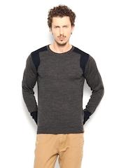 Peter England Men Grey Sweater