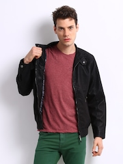 Peter England Men Black Jacket