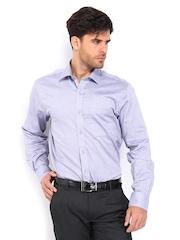 Peter England Men Purple Nuvo Fit Formal Shirt