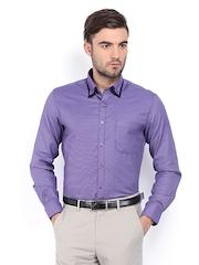 Peter England Men Purple Slim Fit Formal Shirt