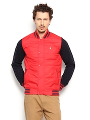 Peter England Men Red Padded Jacket