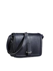Phive Rivers Navy Blue Leather Sling Bag