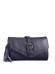 Phive Rivers Navy Leather Clutch