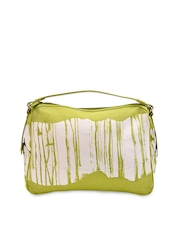 Phive Rivers Green & White Printed Shoulder Bag