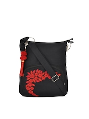 Pick Pocket Black Sling Bag