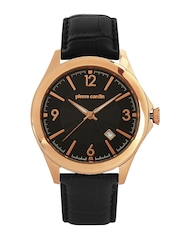 Pierre Cardin Men Black Dial Watch