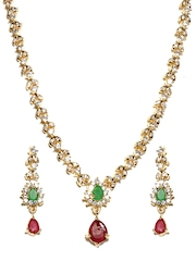 Pitaraa Gold Toned Jewellery Set