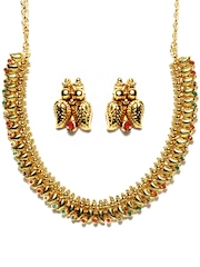 Pitaraa Gold Toned Jewellery Set