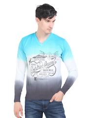 Platinum League Men Multicoloured Ombre Sweater