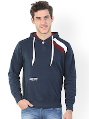 Platinum League Men Navy Hooded Sweatshirt