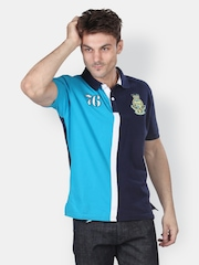 Platinum League Men Blue Polo T-shirt