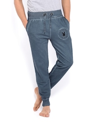 Playboy Men Bluish Grey Lounge Pants LWHH