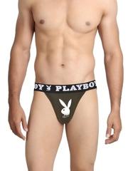 Playboy Men Dark Green Tee Briefs UF 13