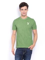 Playboy Men Green T-shirt