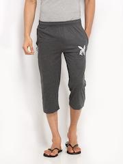 Playboy Men Grey 3/4 Length Lounge Pants LWPQ