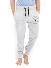 Playboy Men Grey Melange Lounge Pants LWHH