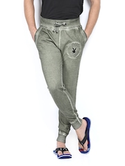 Playboy Men Olive Green Lounge Pants LWHH-LT STEEL