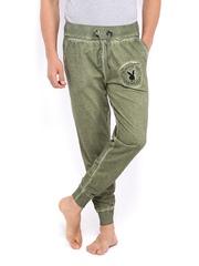 Playboy Men Olive Green Lounge Pants LWHH