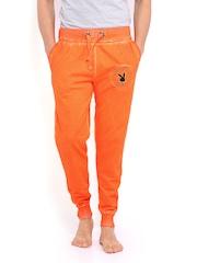 Playboy Men Orange Lounge Pants LWHH