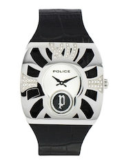 Police Men Silver Dial Watch
