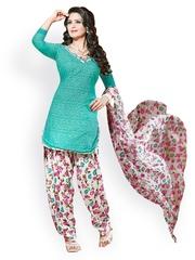 Prafful Multicoloured Printed Crepe Unstitched Dress Material