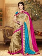 Prelika Multicoloured Bhagalpuri Silk Printed Saree