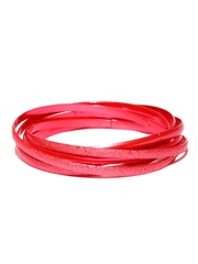 Pretty Women Set of 6 Coral Red Bangles