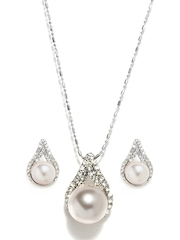 Pretty Women Silver Plated Earring & Pendant Set