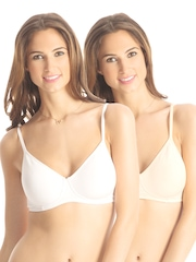 PrettySecrets Snug Sexy Collection Pack of 2 Full Coverage Bras PSBRWL2-2014AW006