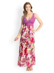 PrettySecrets Purple Printed Maxi Nightdress PSW14SCL07