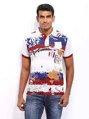 Probase Men Multi-Coloured Printed Polo T-shirt
