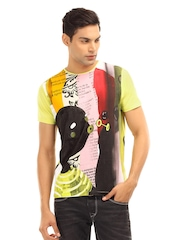Probase Men Multi coloured Printed T-shirt