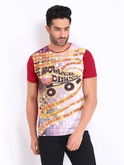 Probase Men Red Printed T-shirt