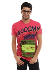 Probase Men Red Printed Tshirt