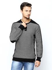 Proline Men Black & White Sweater