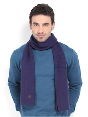 Proline Men Purple & Grey Wool Blend Muffler