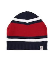 Proline Men Red & Navy Striped Beanie