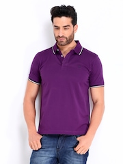 Proline Men Purple Polo T-shirt