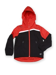 Puma Boys Black & Red Hooded King Customisable Print Windcheater