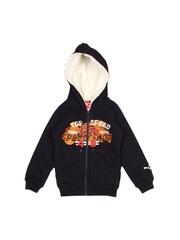 Puma Boys Navy Hooded Fleece Sweatshirt