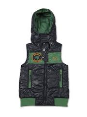 Puma Boys Navy Hooded Jacket
