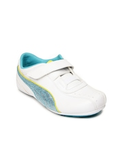 Puma Boys White Talulla Glamm V Casual Shoes