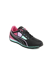 Puma Girls Black Talulla Futureteller Jr Casual Shoes