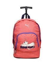 Puma Kids Pink Primary Wheel Trolley Bag