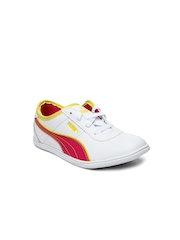 Puma Girls White Whitley Jr Casual Shoes