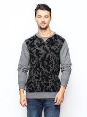 Puma Grey Men Printed Sweatshirt