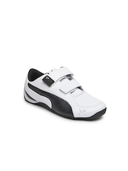 Puma Kidds White & Black Drift Cat 5 Jr Sports Shoes