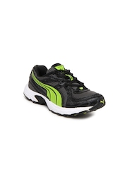 Puma Kids Black & Grey Kuris Jr Ind Sports Shoes